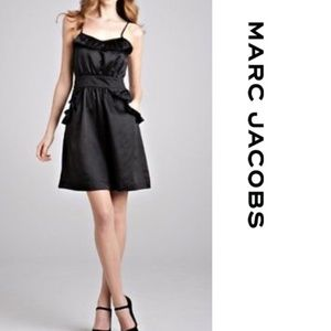 Marc Jacobs Black Silk Blend Dress Pollyanna Sz 10